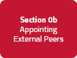 Section 0b: Appointing External Peers
