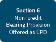 Section 6: Non-credit Bearing Provision Delivered through Institutes