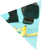 image of person slipping on banana skin