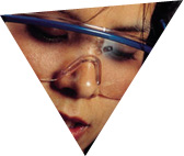 image of person wearing safety glasses
