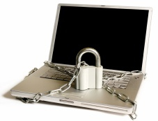 Padlocked Notebook PC