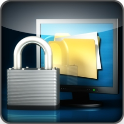 Image of padlock and PC screen